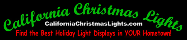 California Christmas Lights Banner