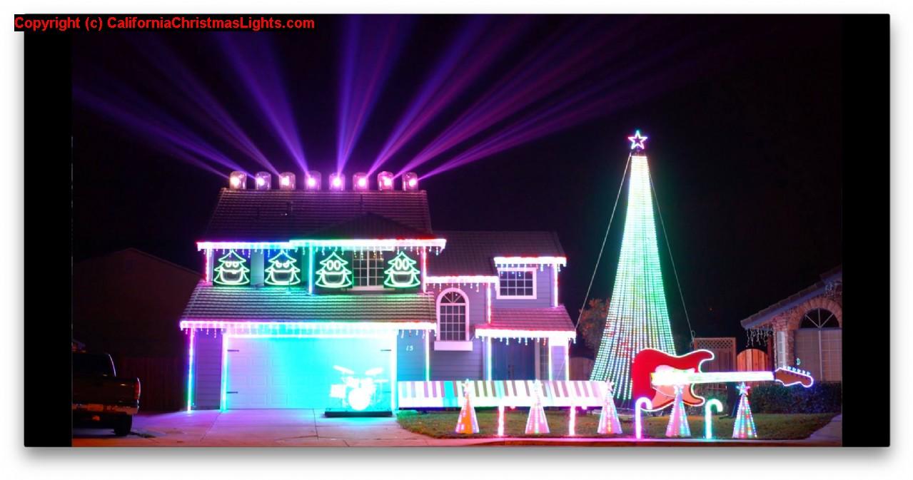 Phillips Christmas Lights.Christmas Lights Holiday Display At 15 Phillips Ct Tracy