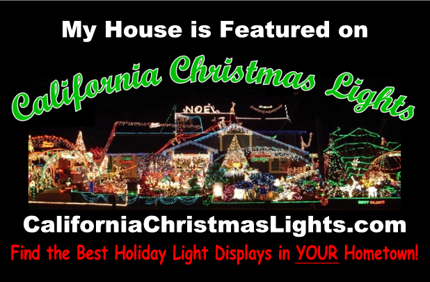 My House is on California Christmas Lights dot com - extra large