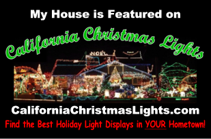 My House is on California Christmas Lights dot com - large