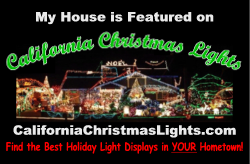 My House is on California Christmas Lights dot com - medium
