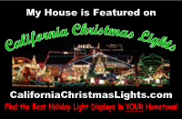 My House is on California Christmas Lights dot com - small
