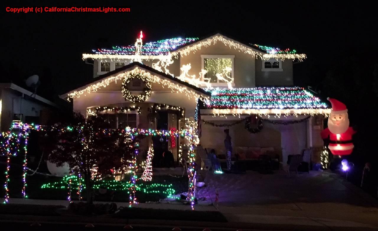 Christmas Lights Holiday Display At Twinwood Loop